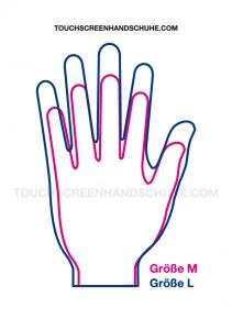Touchscreen-Handschuhe Größenschablone