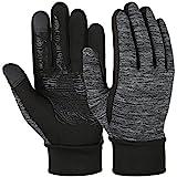 Vbiger Herren Touchscreen Fahrhandschuhe SMS Handschuhe für Frühling Herbst Winter, Gr.-M, Schwarz-1