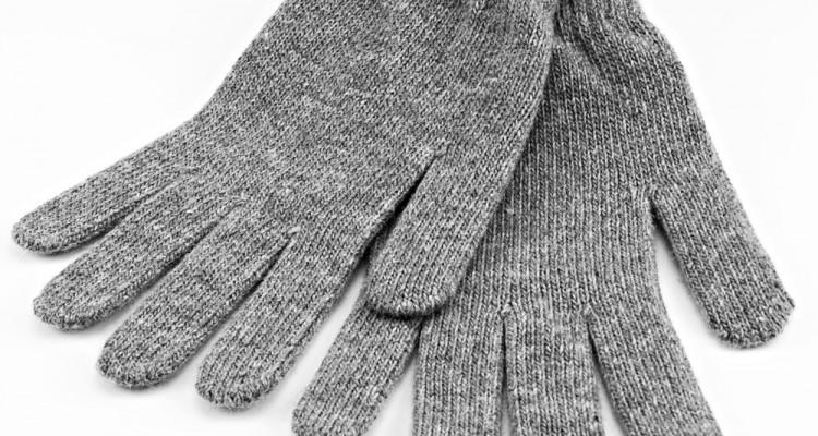 Touchscreen Handschuhe in Farbe hellgrau