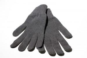iPhone Handschuhe grau